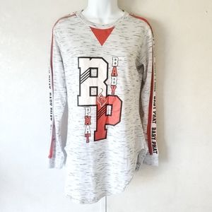Baby Phat Large Graphic Heathered Gray Long Sleeve